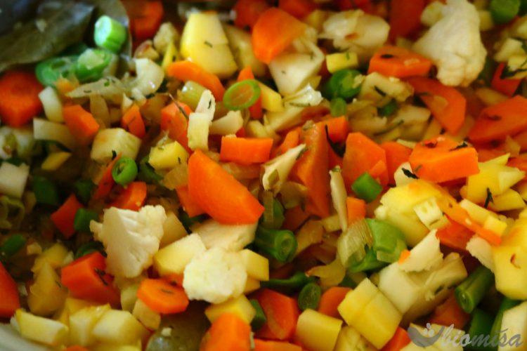 Nakrájená zelenina