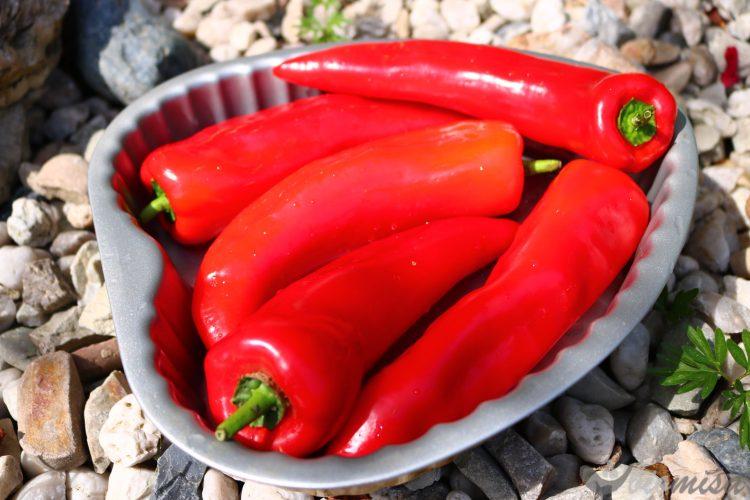 Papriky před pečením