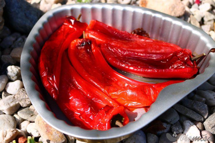 Papriky po upečení