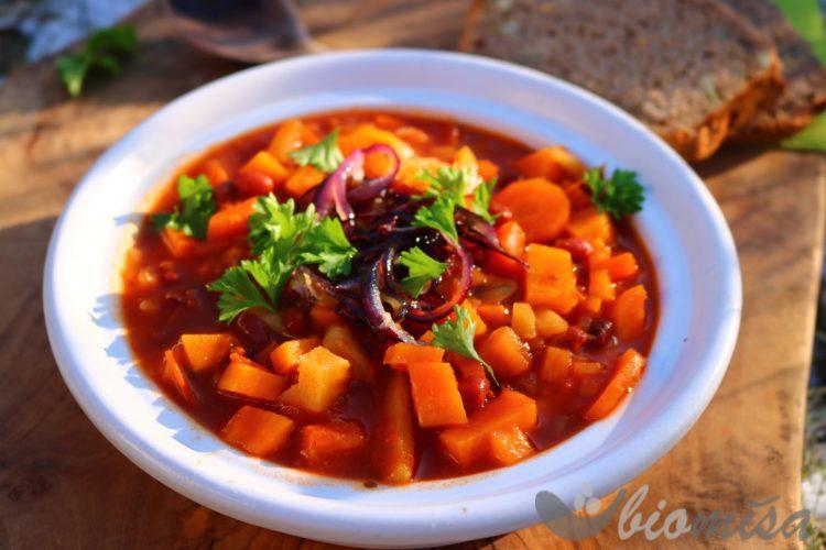 Batátová polévka s fazolkami adzuki 2